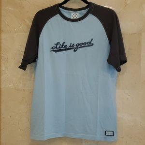 MEN'S TURQUOISE LIFE IS GOOD T SHIRT